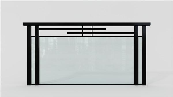 哑黑玻璃不锈钢护栏