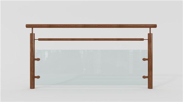 木纹玻璃不锈钢护栏