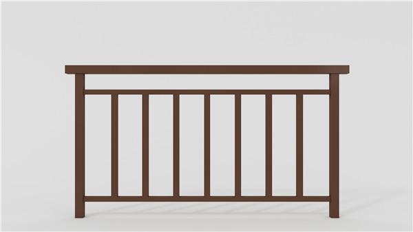 深棕阳台不锈钢护栏