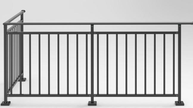 小区彩色不锈钢阳台护栏