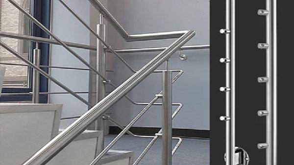 不锈钢立柱成品护栏