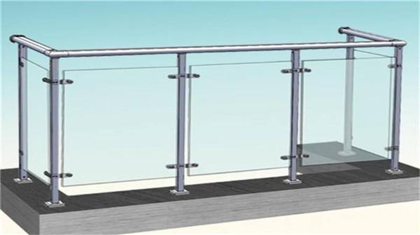 阳台不锈钢玻璃栏杆效果图