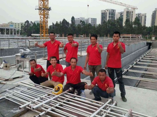 广东东莞东城污水处理厂专用水池不锈钢护栏图片