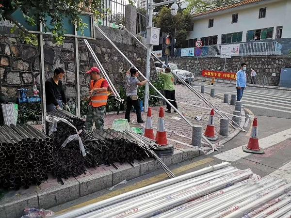 深圳福田市政旧围栏换新工程圆满完成