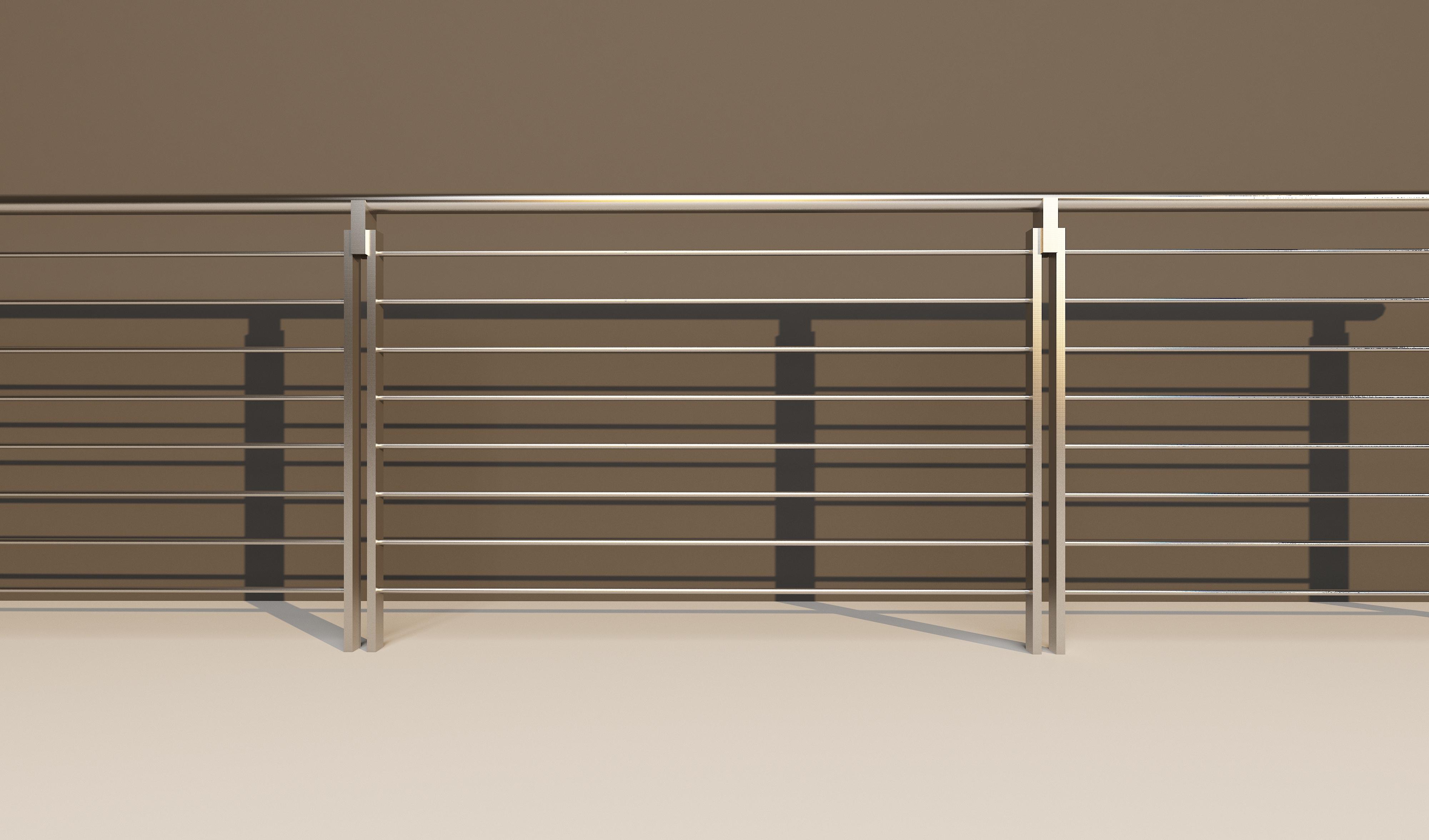 不锈钢工地防护栏效果图