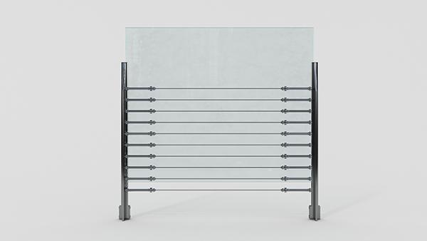 玻璃护栏XSF-19-0043