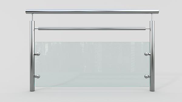 玻璃不锈钢护栏XSF-19-0031