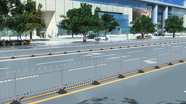 市政不锈钢护栏效果图
